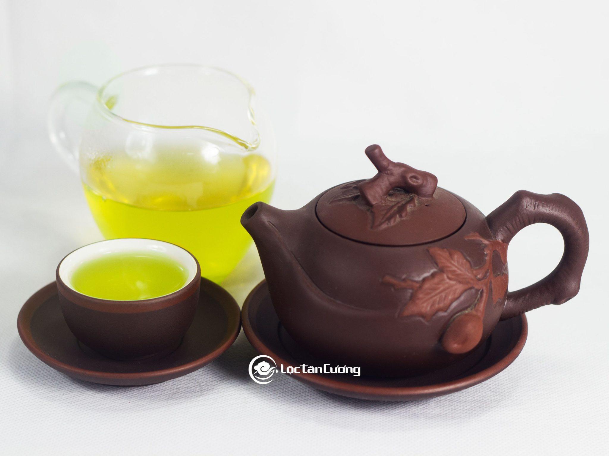 Màu sắc nước trà móc câu thái nguyên vàng xanh vô cùng đẹp