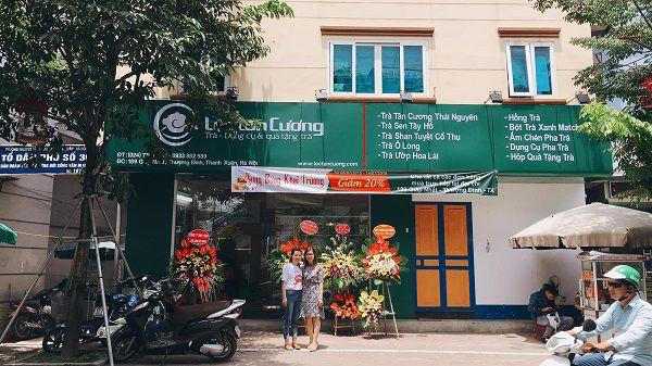 Cửa hàng trà Lộc Tân Cương tại Giáp Nhất, Hà Nội