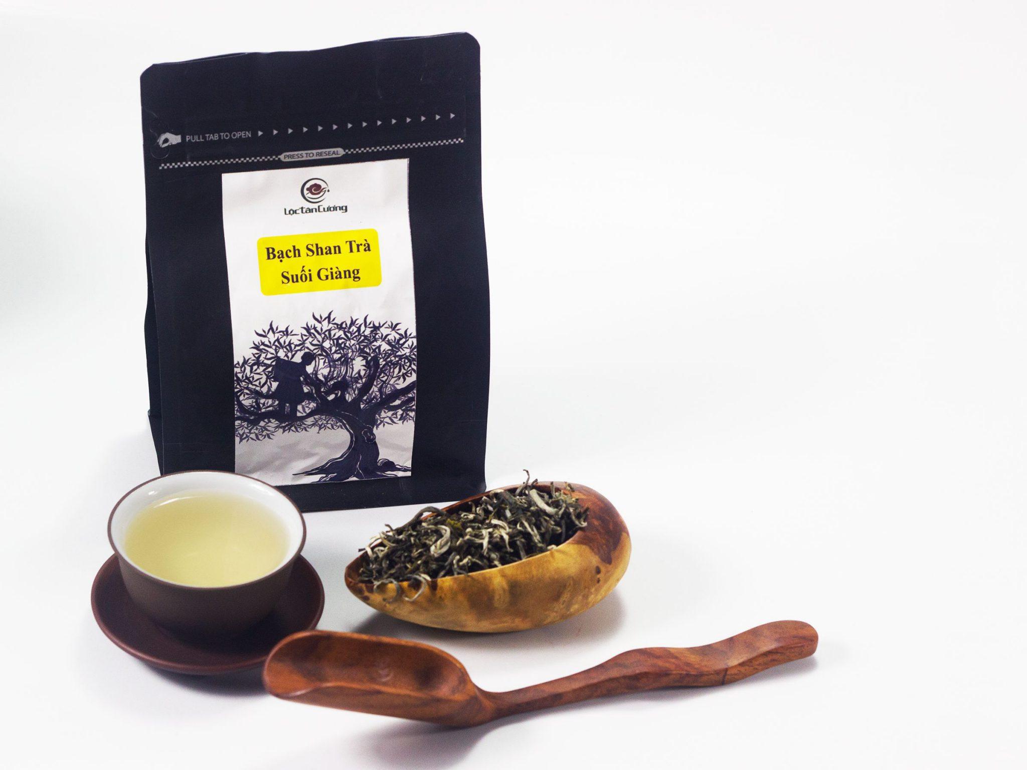 Sản phẩm bạch trà Suối Giàng của Lộc Tân Cương
