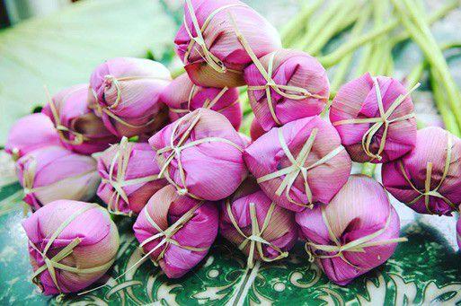 Trà sen xổi có hương thơm tự nhiên của hoa sen tươi
