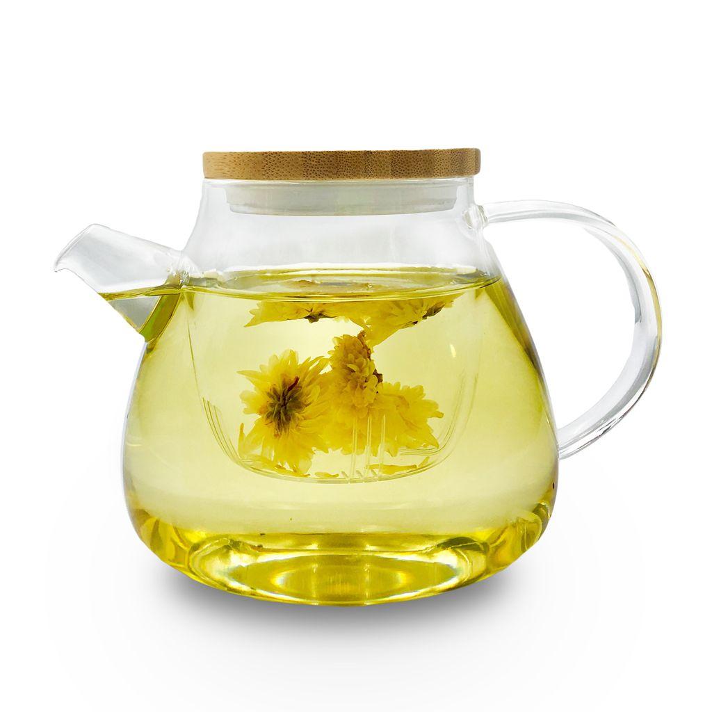Trà cúc vàng thường được dùng để chữa các chứng chóng mặt, nhức đầu, đau mắt, mất ngủ