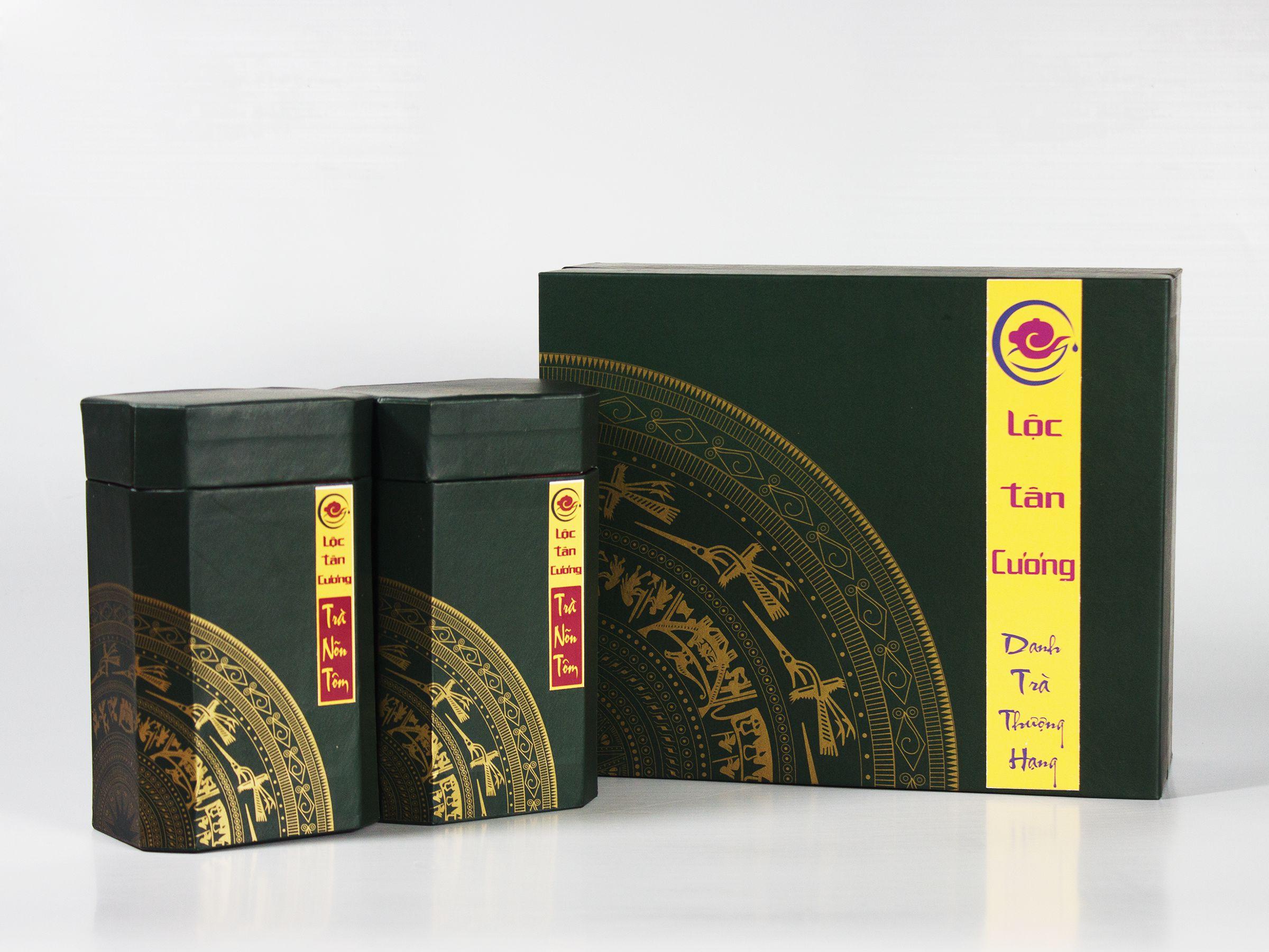 Hộp quà tặng trà Nõn Tôm Thượng Hạng Thái Nguyên mang văn hóa truyền thống, tinh tế
