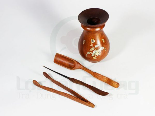 bộ gắp trà gỗ hương (2)
