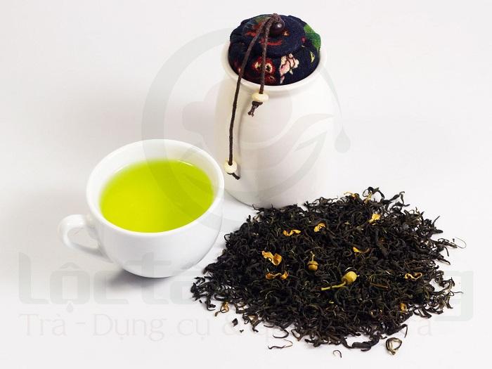 Cánh & nước của trà ướp hoa bưởi tự nhiên