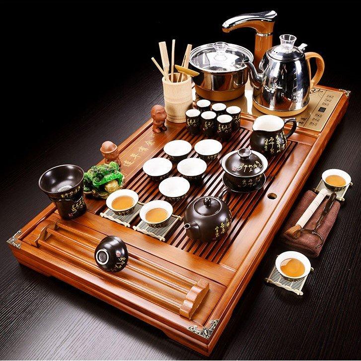 Bàn trà điện đa năng giúp thao tác pha trà thuận tiện hơn, chuyên nghiệp hơn